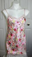 Womens Victorias Secret Floral Chemise Nightgown Size Small