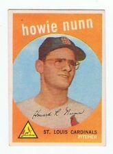 1959 Topps  HOWIE NUNN  HIGH  # 549  Baseball Card  NMT  ST LOUIS CARDINALS