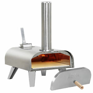 Big Horn Outdoors Portable Pizza Oven Pellet Grill Wood BBQ Smoker Food Grade SS