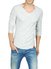 NWT $198 MENS DIESEL K-NUD CASHMERE BLEND V NECK SWEATER GRAY XL X-LARGE