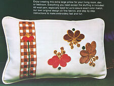 Vintage Leewards RETRO Needlepoint Embroidery Kit Large Pillow WATER LILIES Fun!
