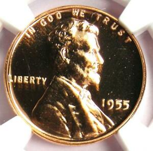 1955 Proof Lincoln Wheat Cent Penny 1C Coin - NGC PR69 RD (PF69) - $850 Value!