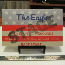 Eagles July 1975 Cloth Backstage Stage Pass Iowa State Fair Grounds; Des Moines