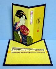 Japanese Rice Paper Wallet Checkbook Cover Lady With Fan