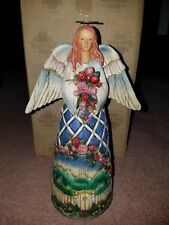Guardian of the Garden and Flowers Angel Jim Shore Heartwood Creek Figurine