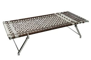 FOLDABLE SINGLE SIZE Stainless Steel BED CHARPAI COT WITH HEAVY-DUTY FABRIC
