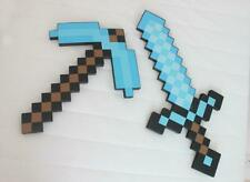 Sword pickaxe Minecraft Diamond Toys For Kids High Quality 2 pcs Free Shipping