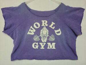 Vintage Rare PURPLE World Gym Ape Gorilla Cutoff Sweatshirt Sz XL/2XL (PB)