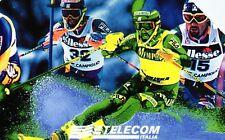 G 590 C&C 2649 SCHEDA TELEFONICA USATA CAMPIONATI DI SCI SESTRIERE 1997 L. 15000