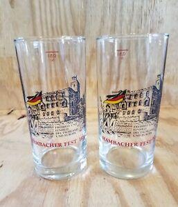 Set of Two Hambacher Fest 1832 Tumblers Germany