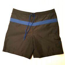 POLO SPORT RALPH LAUREN Mens Medium Charcoal Gray Swim Trunks Board Shorts EUC