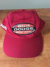 NASCAR Dodge Weekly Series Cintas Official Red Baseball Cat Hat Adjustable Rare