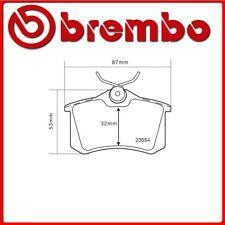07.B315.25#43 PASTIGLIE FRENO POSTERIORE SPORTIVE BREMBO SPORT AUDI A4 Avant (8E