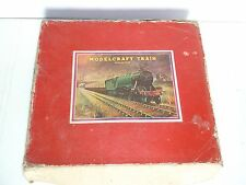 """Rare old vintage wind-up """"MODEL CRAFT"""" tin toy train set with box of 60's..."""