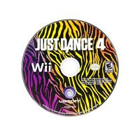Just Dance 4 (Nintendo Wii, 2012) Game Disc ONLY Tested & Working
