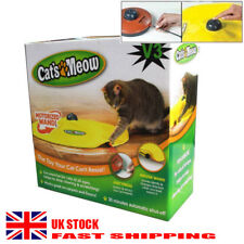 V3 CAT'S MEOW UNDERCOVER YELLOW SKIRT MOTORISED MOVING MOUSE WAND TOY / BOXED UK