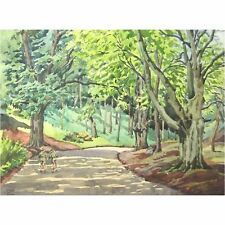 George Holloway Brockley Combe North Somerset Woodland Watercolour Painting