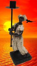 Skulptur Diener 1 Lampenträger Kolonial Afrika Sammelfigur Geschenk Kolonialzeit
