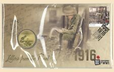 Australia 2016 WWI Letters from the Front PNC Stamp & $1 UNC Coin Cover