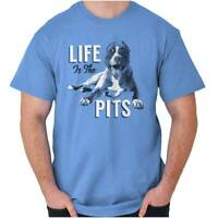 Life is Pits Doggo Lover Dad Mom Pit Pitbull Pet Puppy Dog T Shirt Tee