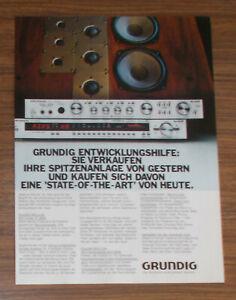 Seltene Werbung vintage GRUNDIG HiFi-Tuner ST 6000 Vollverstärker SXV 6000 1981
