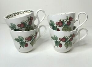 Noritake Royal Orchard Coffee Tea Cups Set of 4 Primachina 9416 Fruit NEW