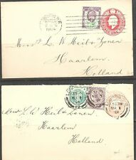 GREAT BRITAIN -  MIXED P. HISTORY 1901 QV postal stationery 1d cover plus - 2296