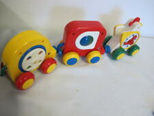 VINTAGE ANIMAL CARS ELEPHANT CHICKEN/CLOCK MAGNETIC ACTIVITY TOYS SOUND ANIMATED