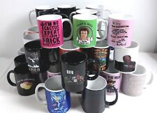 Case of 36 Various Designs Coffee Cups Mugs Black, White, & Color Changing