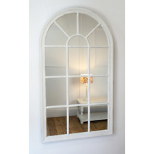 70CM MIRROR WINDOW STYLE WHITE DECORATION HOME WALL MOUNTED VINTAGE GIFT ROOM