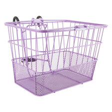 Sunlite LiftOff Bicycle Basket with Mesh Bottom-13.5 x 9.87 x 9.5 inches-Purple