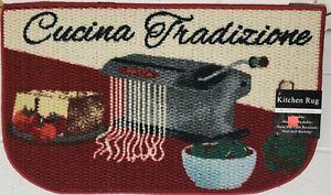 "TEXTURED KITCHEN RUG (18""x30"") FOOD IN THE KITCHEN,CUCINA TRADIZIONE,D Shape, AH"
