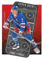 1995-96 Brian Leetch Upper Deck SP Stars Etoiles Die Cut - New York Rangers