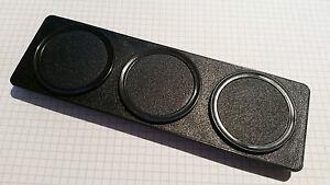 Halter für 3 Zusatzinstrumente DIN Radioschacht Blende inkl. 3 Deckeln ABS