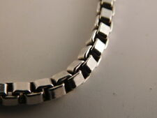 "TIFFANY & CO VENETIAN STERLING SILVER BOX CHAIN 7.50"" LONG BRACELET GIFT BOX"