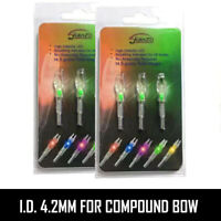 2 Packs (3Pcs/Pack) Green Lighted Nock New Long Time I.D. 4.2mm For Compound Bow