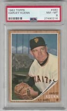 1962 TOPPS  #480 HARVEY KUENN !!! PSA 8 NM-MT !!! GIANTS !!!