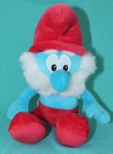 """2008 Papa Smurf Plush Toy Stuffed Animal Mute 11"""""""