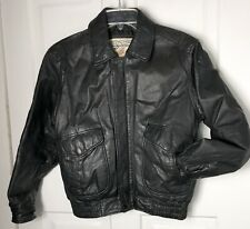 Vintage Men's Medium Women Large Leather NZO Cooper Collection A2 Bomber Jacket