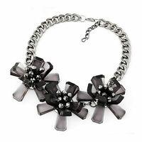 Collier Gliederkette Halskette Charmes Kette Necklace Statement Party L777