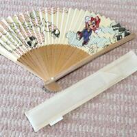 Super Mario Bros. Folding Hand Fan SENSU Club Nintendo Limited Japan