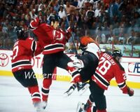 NHL New Jersey Devils Scott Stevens Crushing Eric Lindros Color 8 X 10 Photo Pic