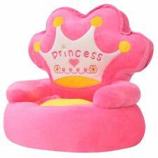 vidaXL Kinderstoel Prinses Pluche Roze Fauteuil Kinderfauteuil Luie Stoel Kids