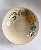 "Vintage Los Angeles Potteries 11"" Ceramic Serving Bowl Hand Made Pineapple Fruit"