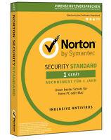 Norton Security 2018 1 Gerät 1 Jahr   PC, Mac   INTERNET SECURITY DE-Lizenz