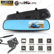 """4.3"""" 1080P Spiegel Dash Cam Dual Lens Auto DVR Rückfahrkamera Recorder WDR 170°"""