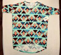 LuLaRoe Irma Tunic Womens Shirt Top Small Multicolor Print NWT New with Tags