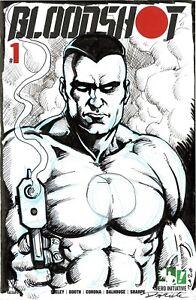 HERO INITIATIVE BLOODSHOT 50 PROJECT Original cover: DARICK ROBERTSON CGC 9.4