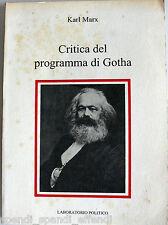 KARL MARX CRITICA DEL PROGRAMMA DI GOTHA LABORATORIO POLITICO 1992