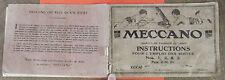 ANCIEN CATALOGUE MECCANO , INSTRUCTION POUR L'EMPLOI DES BOITES N°1/2/3 . 1919